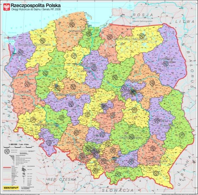 mapy polski